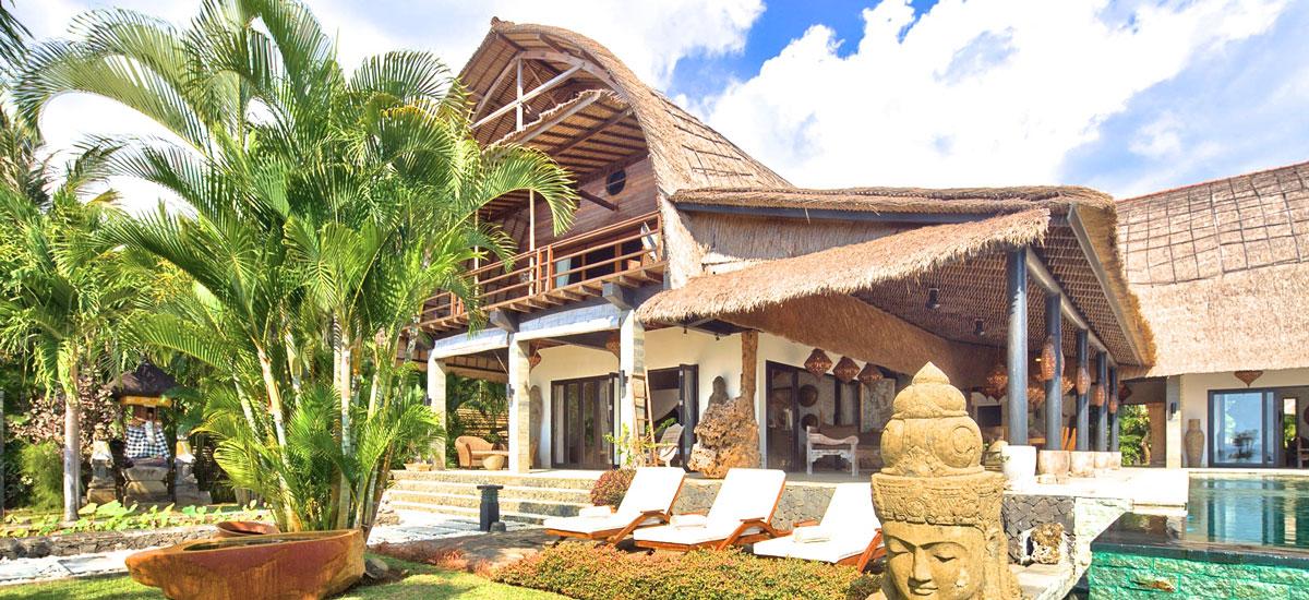 Villa Buddha op Bali met zonneterras